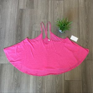 Free People Sandy V-Neck Tank In Pink Size Small
